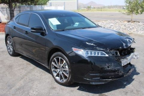 loaded 2016 Acura TLX SH AWD V6 Tech repairable for sale
