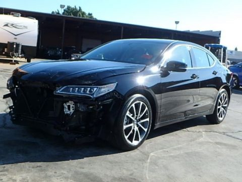 luxury 2017 Acura TLX repairable for sale