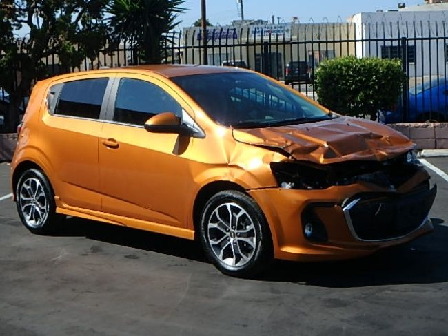 nice project 2017 Chevrolet Sonic LT repairable