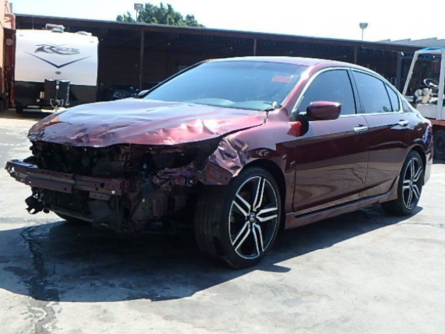 Economical 2016 Honda Accord Sport Repairable For Sale