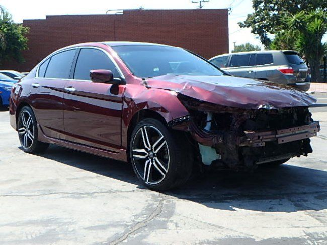 economical 2016 honda accord sport repairable for sale. Black Bedroom Furniture Sets. Home Design Ideas