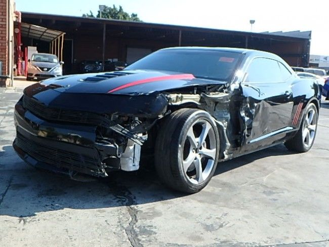 loaded with options 2015 Chevrolet Camaro SS Coupe repairable