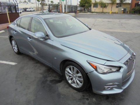 loaded with options 2015 Infiniti Q50 a repairable for sale