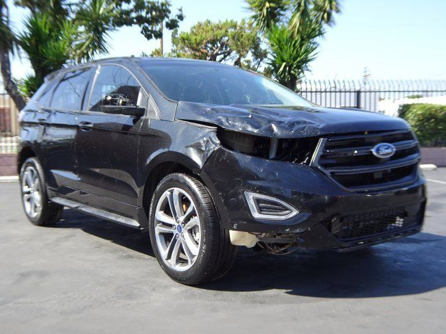 sporty 2015 ford edge sport awd repairable for sale. Black Bedroom Furniture Sets. Home Design Ideas