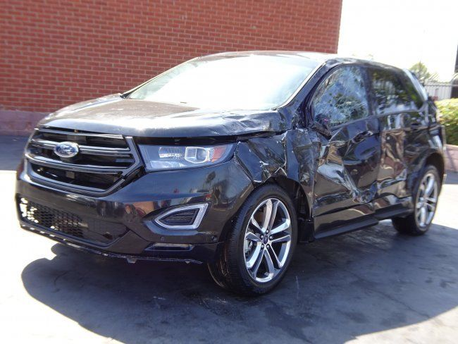 sporty 2015 Ford Edge Sport AWD repairable