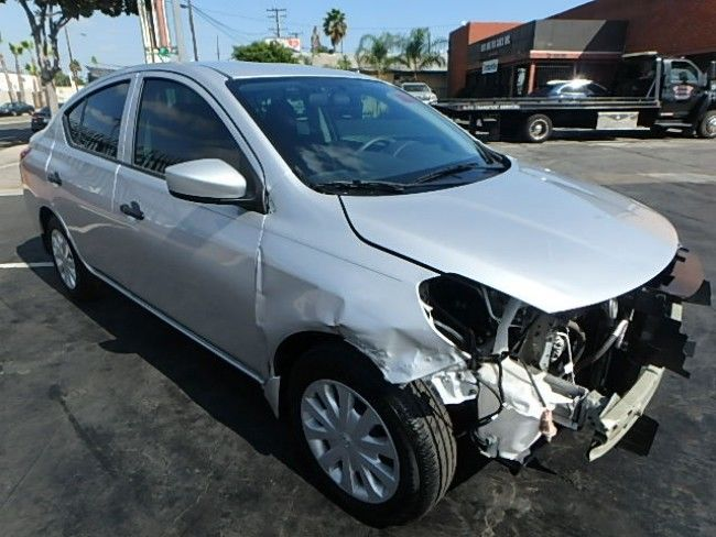 front collision 2017 Nissan Versa S repairable