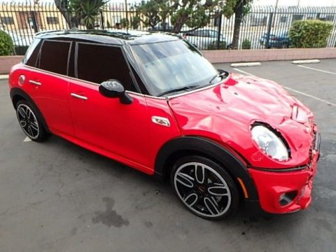 front damage 2017 Mini Cooper S Hardtop repairable for sale