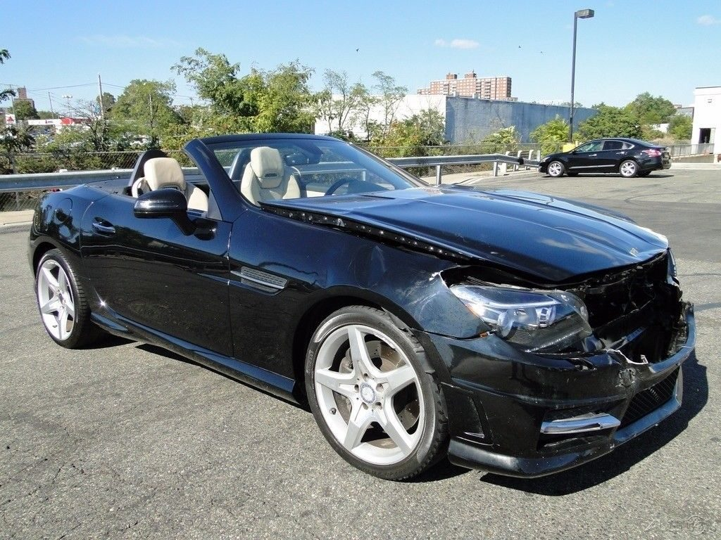 front hit 2012 Mercedes Benz SLK 250 repairable