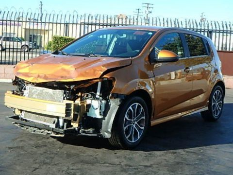 front hit 2017 Chevrolet Sonic LT repairable for sale