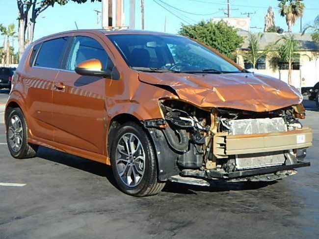 front hit 2017 Chevrolet Sonic LT repairable