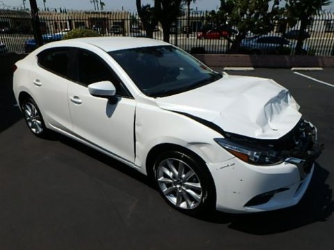 low miles 2017 Mazda Mazda3 i Touring repairable for sale