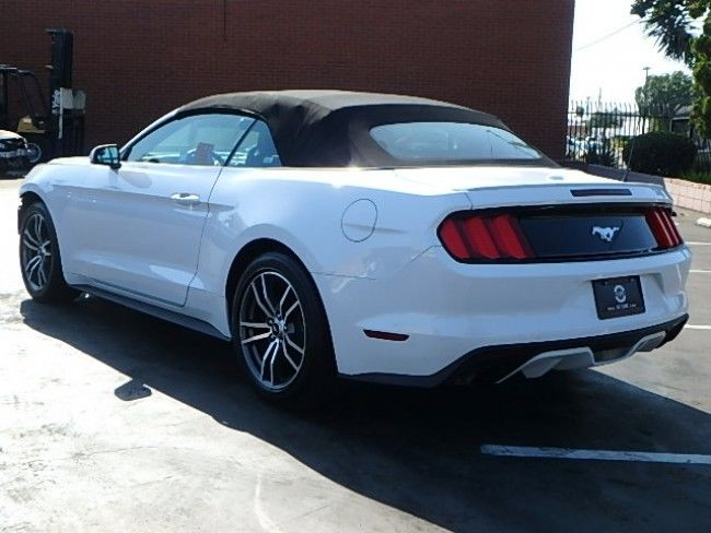 needs new front 2017 Ford Mustang Ecoboost Premium Convertible repairable