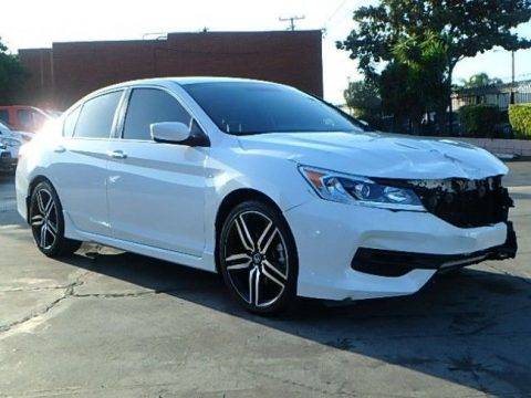 very low mileage 2017 Honda Accord Sport repairable for sale