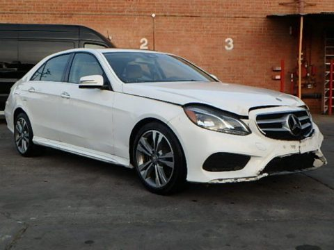 extremely low miles 2016 Mercedes Benz E Class 350 repairable for sale