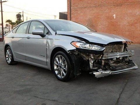 front hit 2015 Ford Fusion Hybrid SE repairable for sale