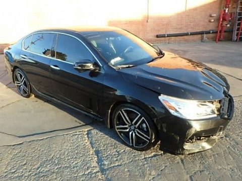 low mileage 2016 Honda Accord Touring Repairable for sale