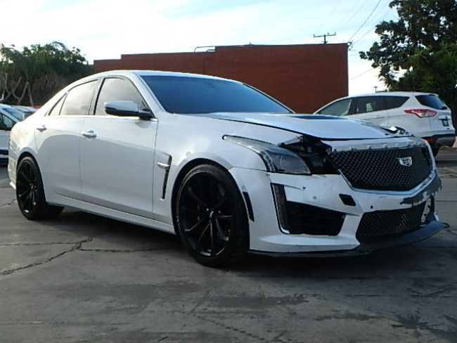 luxury 2016 cadillac cts cts v sedan repairable for sale. Black Bedroom Furniture Sets. Home Design Ideas