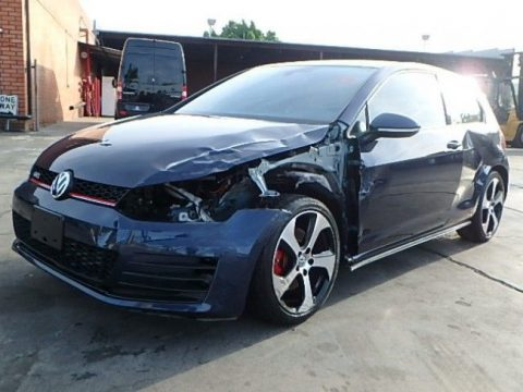 sporty 2015 Volkswagen Golf GTI repairable for sale