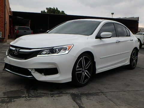 very low miles 2016 Honda Accord Sport repairable for sale