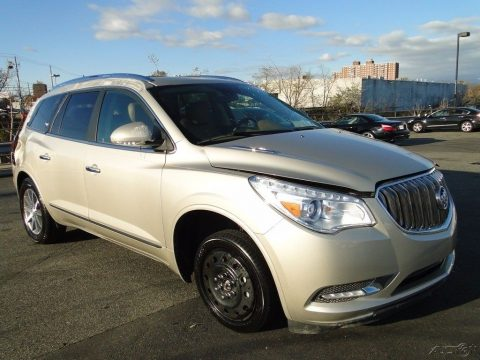 front and side damage 2017 Buick Enclave Leather repairable for sale