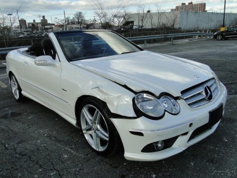 front damage 2009 Mercedes Benz CLK Class Clk350 Convertible repairable for sale