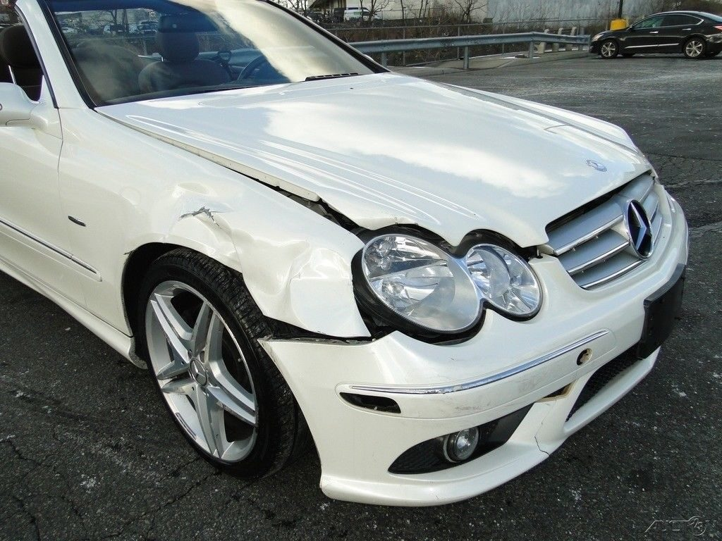 front damage 2009 Mercedes Benz CLK Class Clk350 Convertible repairable