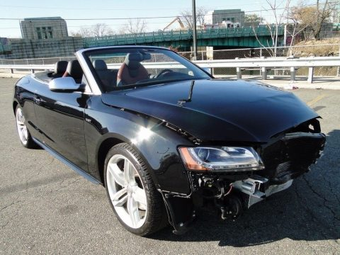 low miles 2011 Audi S5 3.0L V6 Convertible Repairable for sale