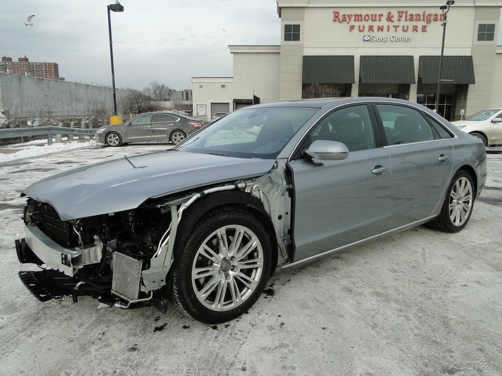 low miles 2014 Audi A8 L 3.0T Quattro repairable
