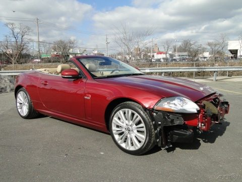 very low mileage 2011 Jaguar XK Base Convertible Repairable for sale