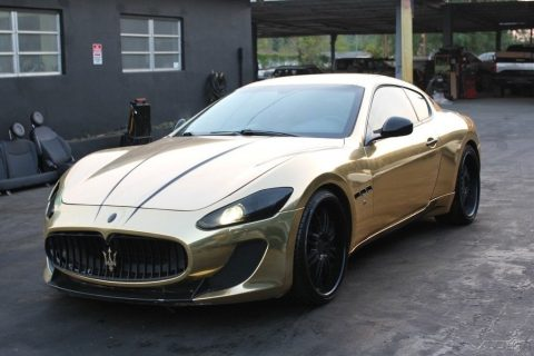 golden stallion 2008 Maserati Gran Turismo Base 2dr Coupe repairable for sale