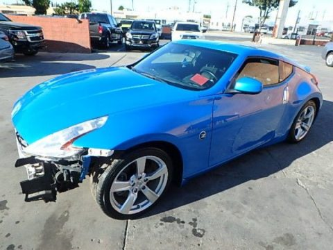 great color 2011 Nissan 370Z 370Z Coupe Repairable for sale