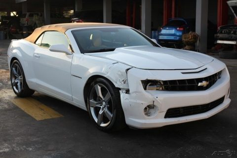 light damage 2012 Chevrolet Camaro SS 2dr Convertible Repairable for sale