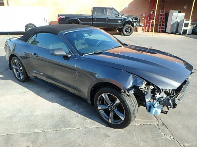 low mileage 2016 Ford Mustang Conv V6 repairable