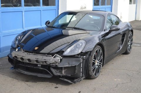 low mileage 2016 Porsche Cayman GTS repairable for sale