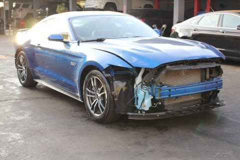 very low miles 2017 Ford Mustang GT 2dr Fastback Repairable for sale