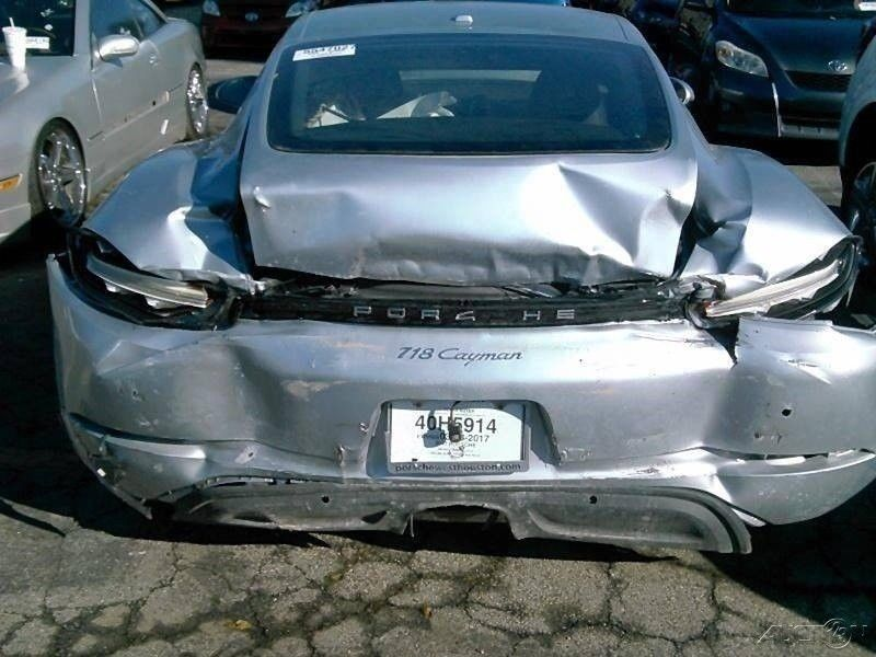very low miles 2017 Porsche 718 Cayman Coupe repairable