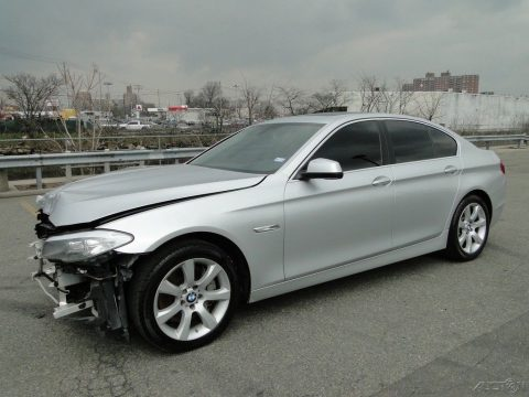 low miles 2013 BMW 5 Series Iturbo 4.4L V8 repairable for sale