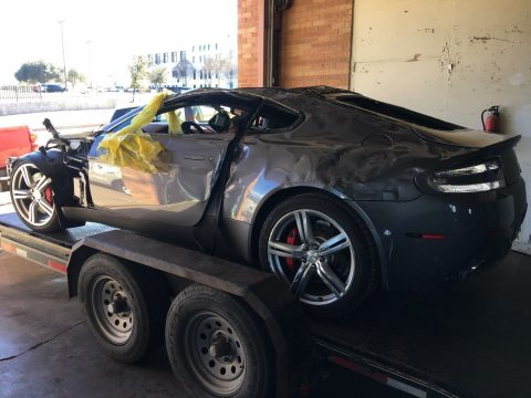 rollover damage 2009 Aston Martin Vantage repairable for sale