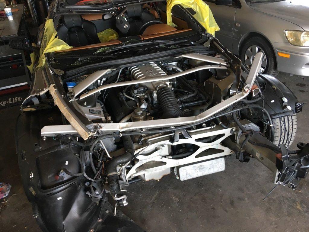 rollover damage 2009 Aston Martin Vantage repairable