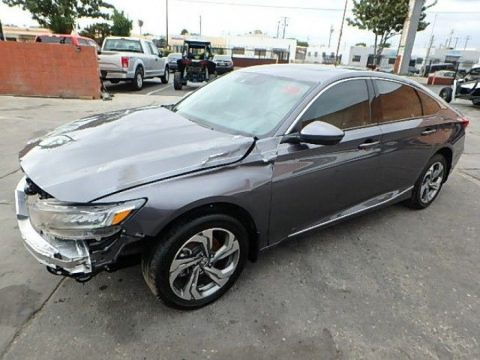 great color 2018 Honda Accord EX L CVT repairable for sale