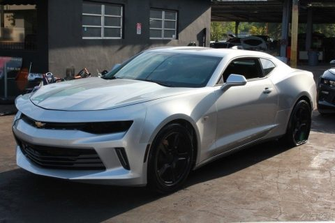 low mileage 2017 Chevrolet Camaro LT 2dr Coupe repairable for sale