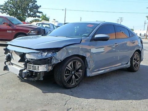 low miles 2017 Honda Civic EX repairable for sale