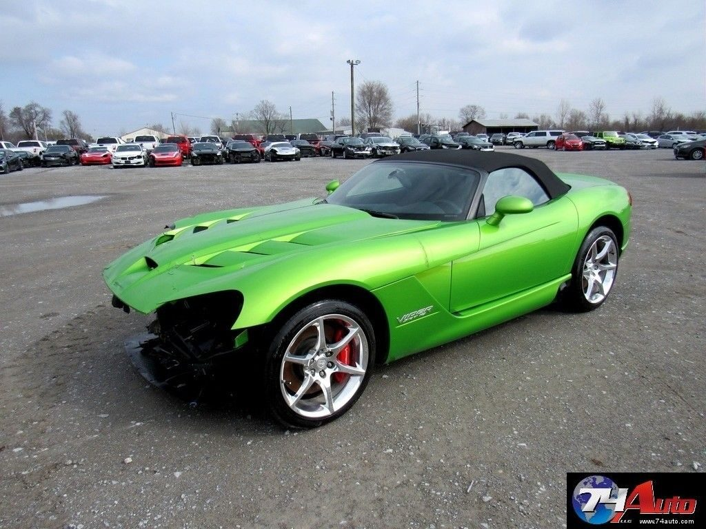very low miles 2009 Dodge Viper Srt10 Repairable