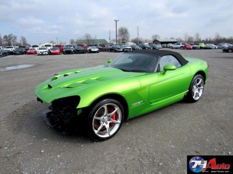 very low miles 2009 Dodge Viper Srt10 Repairable for sale