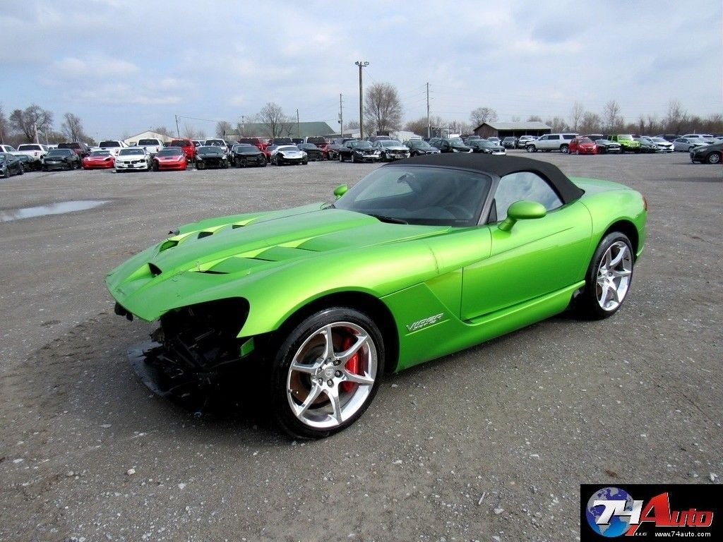 Challenger Scat Pack >> very low miles 2009 Dodge Viper Srt10 Repairable for sale