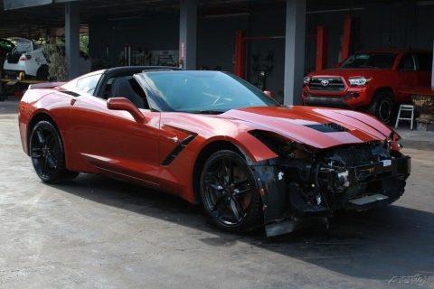 very low miles 2016 Chevrolet Corvette Stingray Z51 repairable for sale