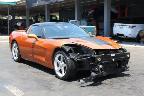 well equipped 2007 Chevrolet Corvette Coupe repairable for sale