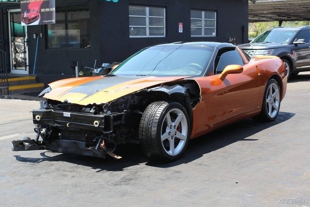 well equipped 2007 Chevrolet Corvette Coupe repairable