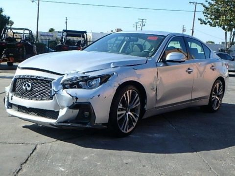 almost unused 2018 Infiniti Q50 3.0t Sport repairable for sale