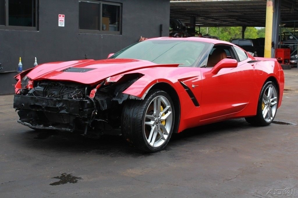 loaded 2015 Chevrolet Corvette Stingray Z51 repairable